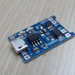 Lithium Battery Charging Board 1A 18650 Micro USB
