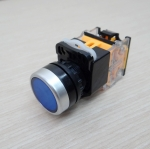 LA38 22mm Flat Head Pushbutton Switch 1NO/1NC Reset (Blue) LA38-11BN