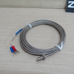 4m K Type Thermocouple 0-400C Sensor Probe หัวเกลียว 6mm