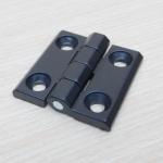 บานพับ 40x40x5mm Zinc alloy ระยะรู 25x25 mm (สีดำ)