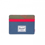 Herschel Charlie Wallet - Navy / Woodland Camo / Red