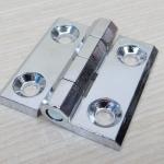 บานพับ 50x50x5mm Zinc alloy ระยะรู 30x30 mm (สีเงิน)