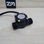 """1-30L/min Water Flow Sensor Flowmeter Hall 1/2"""" 2.0MPa (สีดำ)"""