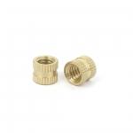 M3 Copper Inserts Brass Double Pass Knurl Nut Embedded Fastener
