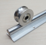 304 stainless steel 16mm U groove type ball bearing roller wheel Bore 10mm