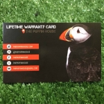 Life Time Warranty Card
