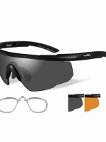 WileyX Saber Advanced - 2 Lens - Smoke Grey - Light Rust (Frame - Matte Black)