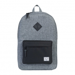 Herschel Heritage Backpack - Raven Crosshatch / Black / Black Leather
