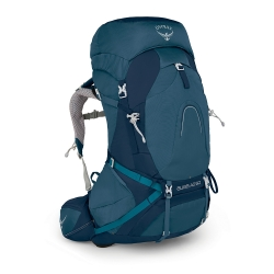 Osprey Aura AG 50 L for Women - Blue (inc.Rain Cover)