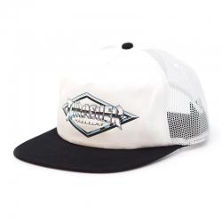 Thrasher Diamond Emblem Trucker Hat - White