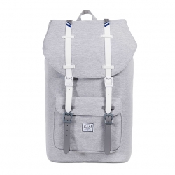 Herschel Little America - Light Grey Crosshatch / White / Blueprint stripe