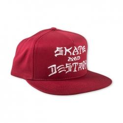 Thrasher Skate And Destroy Snapback - Blood Red