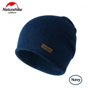 Nature Hike Wool beanie hat (Navy)