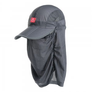 Nature Hike | Folding Quick-Dry Cap with Protective Breathable Mesh (Dark Grey)