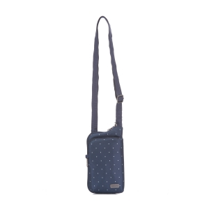 PACSAFE | Daysafe tech crossbody - Navy Poka Dot