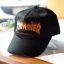 Thrasher Flame Logo Strapback Hat - Black