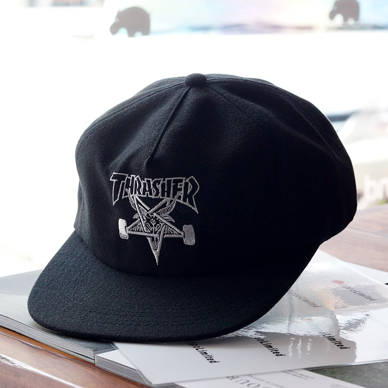 9aea04d1d6c หมวก Thrasher Skategoat Wool Blend Snapback - Black   White