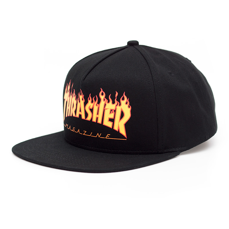bcf6c30957f หมวก Thrasher Flame Logo Snapback Hat - Black